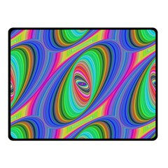 Ellipse Pattern Elliptical Fractal Double Sided Fleece Blanket (small)