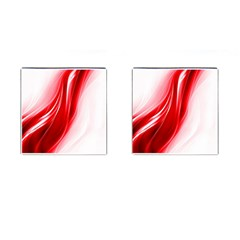 Flame Red Fractal Energy Fiery Cufflinks (square)