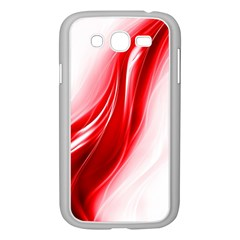 Flame Red Fractal Energy Fiery Samsung Galaxy Grand Duos I9082 Case (white)