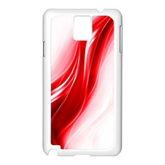 Flame Red Fractal Energy Fiery Samsung Galaxy Note 3 N9005 Case (white)