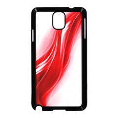 Flame Red Fractal Energy Fiery Samsung Galaxy Note 3 Neo Hardshell Case (black)