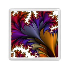 Flora Entwine Fractals Flowers Memory Card Reader (square)