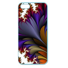 Flora Entwine Fractals Flowers Apple Seamless Iphone 5 Case (color)