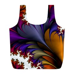 Flora Entwine Fractals Flowers Full Print Recycle Bags (l)