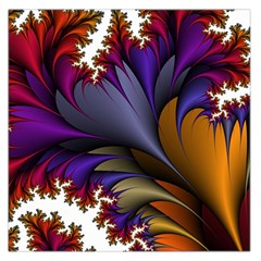 Flora Entwine Fractals Flowers Large Satin Scarf (square)
