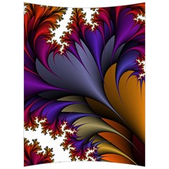 Flora Entwine Fractals Flowers Back Support Cushion