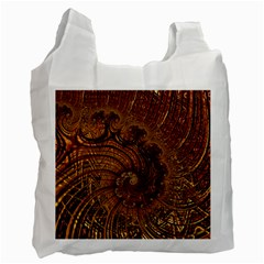 Copper Caramel Swirls Abstract Art Recycle Bag (two Side)