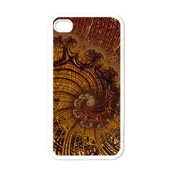 Copper Caramel Swirls Abstract Art Apple Iphone 4 Case (white)