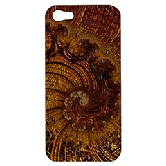Copper Caramel Swirls Abstract Art Apple Iphone 5 Hardshell Case