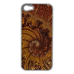 Copper Caramel Swirls Abstract Art Apple Iphone 5 Case (silver)