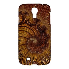 Copper Caramel Swirls Abstract Art Samsung Galaxy S4 I9500/i9505 Hardshell Case