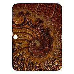 Copper Caramel Swirls Abstract Art Samsung Galaxy Tab 3 (10 1 ) P5200 Hardshell Case