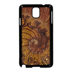 Copper Caramel Swirls Abstract Art Samsung Galaxy Note 3 Neo Hardshell Case (black)