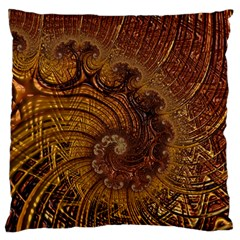 Copper Caramel Swirls Abstract Art Standard Flano Cushion Case (one Side)