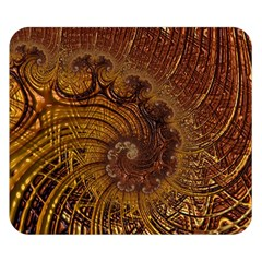 Copper Caramel Swirls Abstract Art Double Sided Flano Blanket (small)