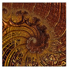 Copper Caramel Swirls Abstract Art Large Satin Scarf (square) by Sapixe