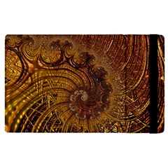 Copper Caramel Swirls Abstract Art Apple Ipad Pro 12 9   Flip Case