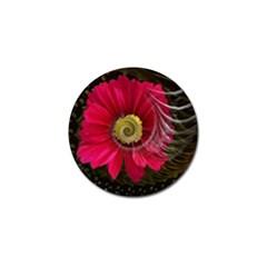 Fantasy Flower Fractal Blossom Golf Ball Marker (4 Pack)