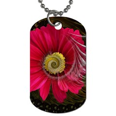 Fantasy Flower Fractal Blossom Dog Tag (two Sides)