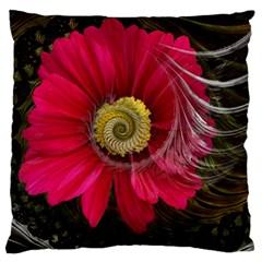 Fantasy Flower Fractal Blossom Large Cushion Case (two Sides)