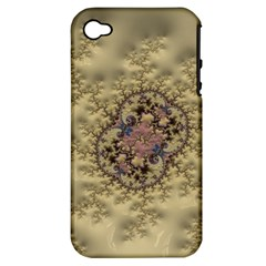 Fractal Art Colorful Pattern Apple Iphone 4/4s Hardshell Case (pc+silicone)