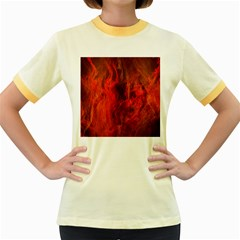 Fractal Abstract Background Physics Women s Fitted Ringer T Shirts