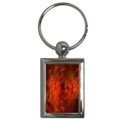 Fractal Abstract Background Physics Key Chains (rectangle)