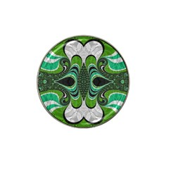 Fractal Art Green Pattern Design Hat Clip Ball Marker (10 Pack)