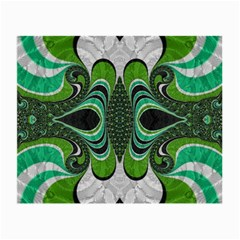 Fractal Art Green Pattern Design Small Glasses Cloth
