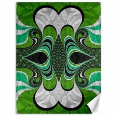 Fractal Art Green Pattern Design Canvas 36  X 48