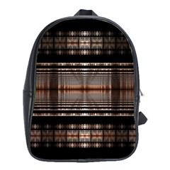 Fractal Art Design Geometry School Bag (large)