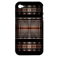 Fractal Art Design Geometry Apple Iphone 4/4s Hardshell Case (pc+silicone)