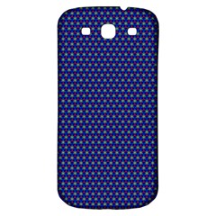 Blue Fractal Art Honeycomb Mathematics Samsung Galaxy S3 S Iii Classic Hardshell Back Case by Sapixe