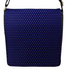 Blue Fractal Art Honeycomb Mathematics Flap Messenger Bag (s)