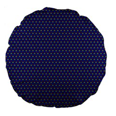 Blue Fractal Art Honeycomb Mathematics Large 18  Premium Flano Round Cushions
