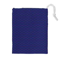 Blue Fractal Art Honeycomb Mathematics Drawstring Pouches (extra Large)