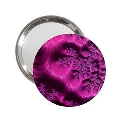 Fractal Artwork Pink Purple Elegant 2 25  Handbag Mirrors
