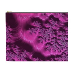 Fractal Artwork Pink Purple Elegant Cosmetic Bag (xl)