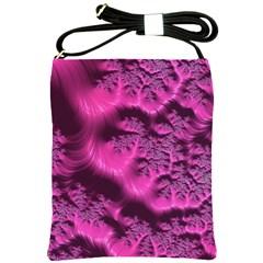 Fractal Artwork Pink Purple Elegant Shoulder Sling Bags