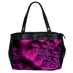 Fractal Artwork Pink Purple Elegant Office Handbags by Sapixe