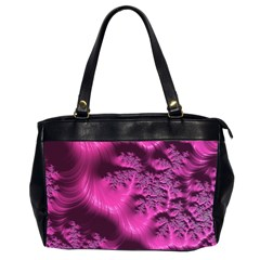 Fractal Artwork Pink Purple Elegant Office Handbags (2 Sides)