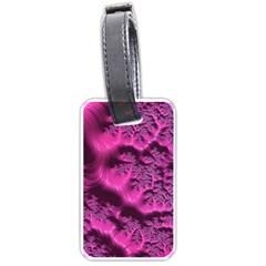Fractal Artwork Pink Purple Elegant Luggage Tags (two Sides)
