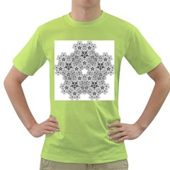 Fractal Background Foreground Green T Shirt