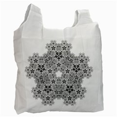 Fractal Background Foreground Recycle Bag (two Side)