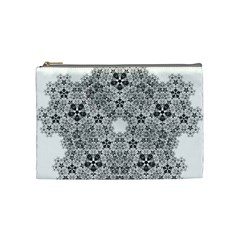 Fractal Background Foreground Cosmetic Bag (medium)