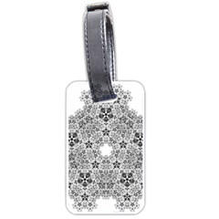 Fractal Background Foreground Luggage Tags (two Sides)