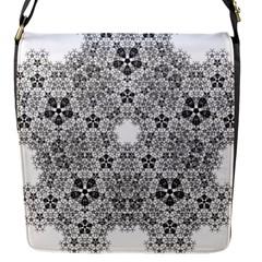 Fractal Background Foreground Flap Messenger Bag (s)