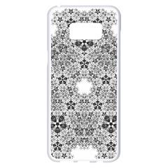 Fractal Background Foreground Samsung Galaxy S8 Plus White Seamless Case
