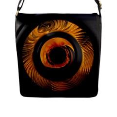 Fractal Mathematics Abstract Flap Messenger Bag (l)