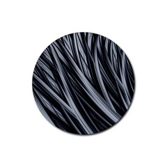 Fractal Mathematics Abstract Rubber Round Coaster (4 Pack)